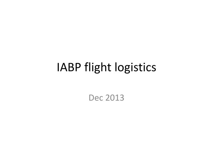 iabp flight logistics n.