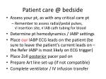 patient care @ bedside