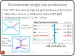 electroweak single top production
