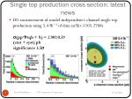 single top production cross section latest news