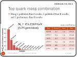 top quark mass combination