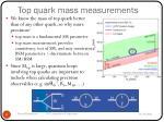 top quark mass measurements