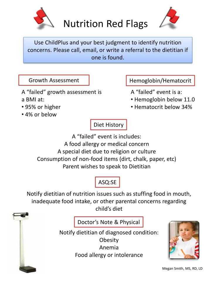 Nutrition red flags