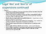 legal dos and don ts of suspensions continued