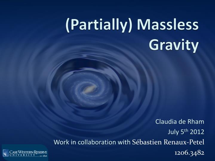 partially massless gravity n.