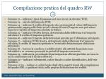 compilazione pratica del quadro rw1