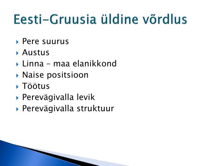 Eesti-Gruusia üldine võrdlus