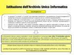 istituzione dell archivio unico informatico