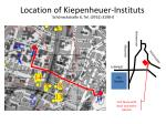location of kiepenheuer instituts