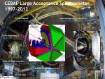 cebaf large acceptance spectrometer 1997 2012