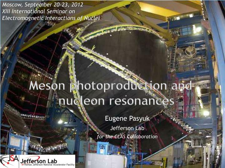 meson photoproduction and nucleon resonances n.