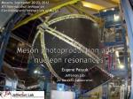 meson photoproduction and nucleon resonances