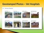 geostamped photos vet hospitals