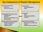 key components of disaster management