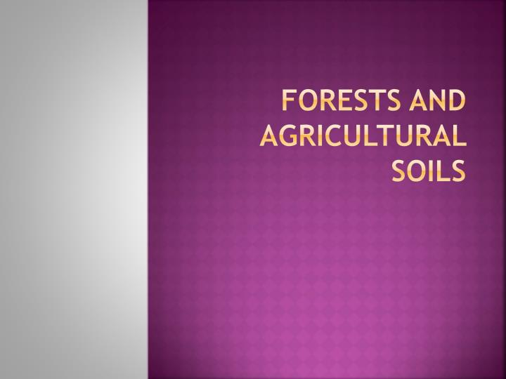 forests and agricultural soils n.