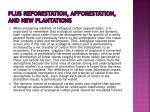 plus reforestation afforestation and new plantations