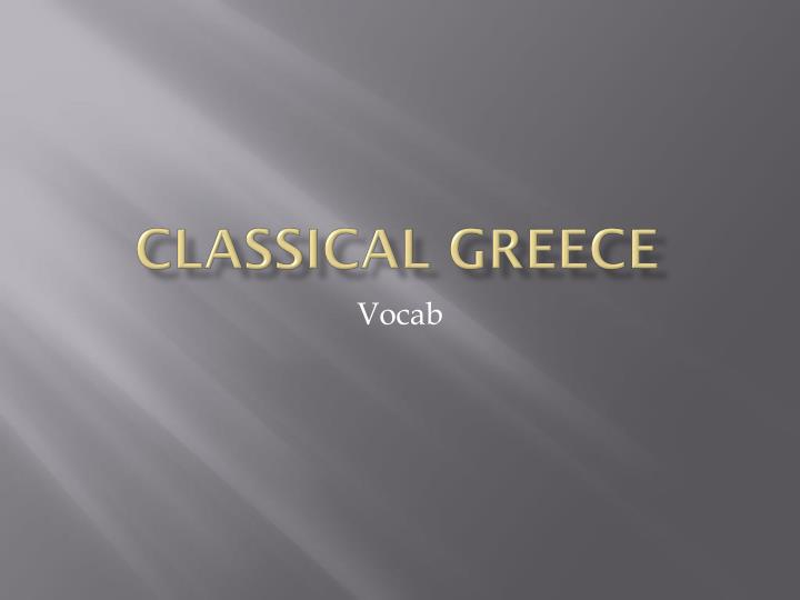 classical greece n.