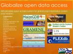 globalize open data access