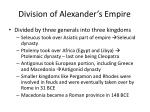 division of alexander s empire