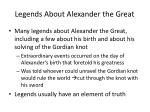 legends about alexander the great