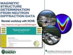 magnetic structure determination from neutron diffraction data