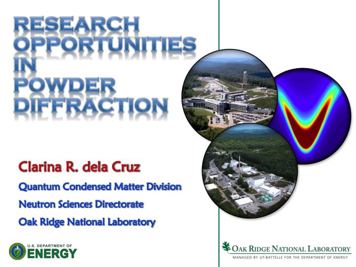 research opportunities in powder diffraction