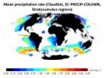 mean precipitation rate cloudsat 2c precip column stratocumulus regions