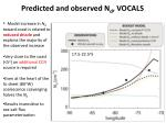 predicted and observed n d vocals