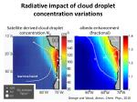 radiative impact of cloud droplet concentration variations