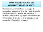 dare agli studenti un organizzatore grafico