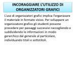 incoraggiare l utilizzo di organizzatori grafici