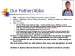 our father abba
