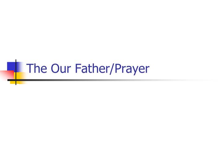 the our father prayer n.