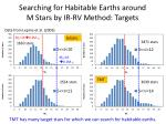searching for habitable earths around m stars by ir rv method targets