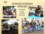 outdoor outreach open air
