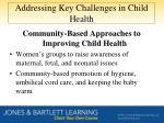 addressing key challenges in child health2
