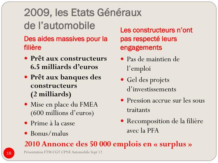 2009, les Etats Généraux
