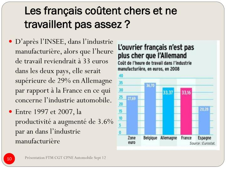 Les français coûtent chers et ne travaillent pas assez ?
