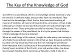 the key of the knowledge of god