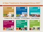 6 new treatments developed since 2007