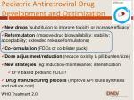 pediatric antiretroviral drug development and optimization