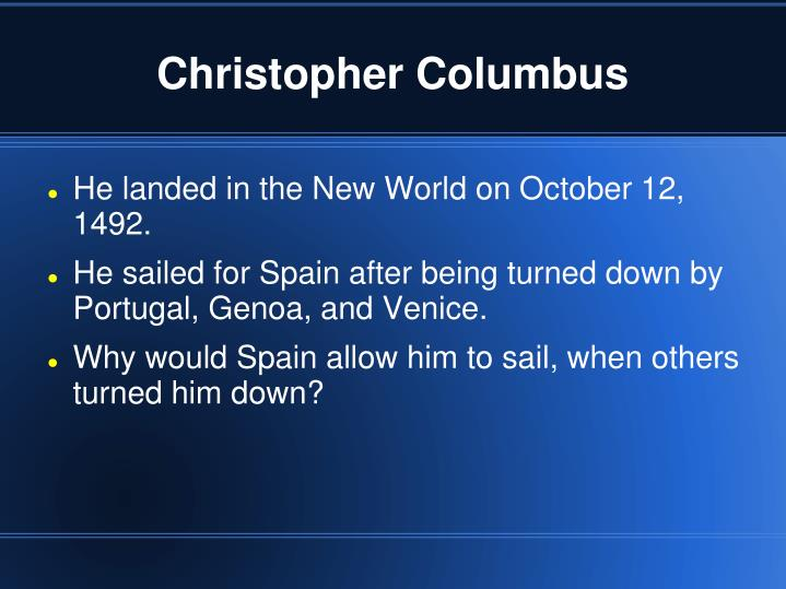 christopher columbus n.
