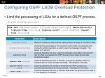 configuring ospf lsdb overload protection