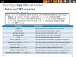 configuring virtual links