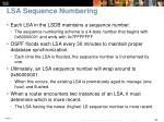 lsa sequence numbering