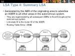 lsa type 4 summary lsa