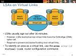 lsas on virtual links