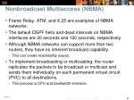 nonbroadcast multiaccess nbma