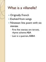 what is a villanelle
