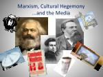 marxism cultural hegemony and the media